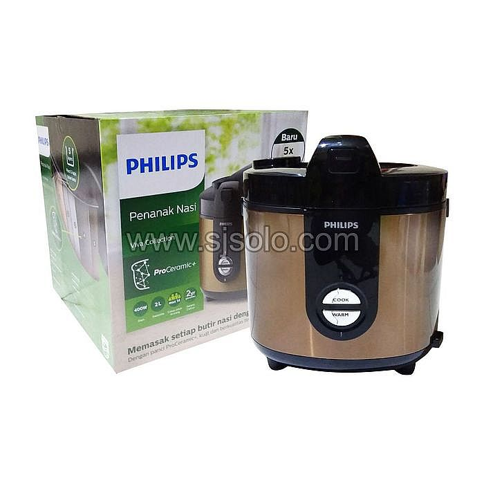 Rice Cooker Stainless PRO HD3132 Penanak Nasi Magic com PHILIPS